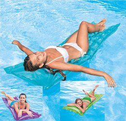 $enCountryForm.capitalKeyWord NZ - Adult Pool Floats Pool Mat Inflatable Water Bed Floating Water Air Beds Water Floating Bed Swimming Pool Floating Bed Beach Toy