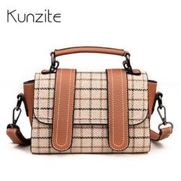472f5d2918ce Kunzite Brand Mini Plaid Bags For Women Handbag Female Totes Pu Crossbody Bags  Fashion Designer Women Bag 2018 Spring Sac A Main