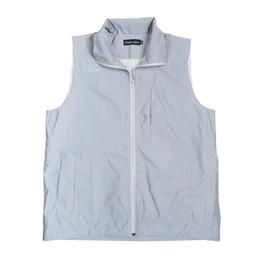 Wholesale big men casual vests jackets for sale - Group buy Drop shipping Big Size Men s Vests Hip Hop M Reflective Jackets Sleeveless Jacket Men Vest Waistcoat Male Casual Vests Without Any Logos