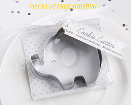 Discount bag cake mold (10 Pieces lot) 2018 baby souvenirs of Little Peanut Elephant Cookie Cutter and Elephant cake mold For baby decoration g