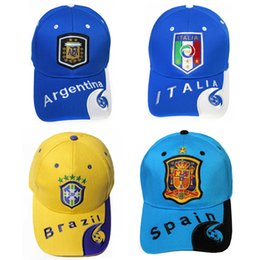 28e975bbeb3 2018 Russia World Cup Theme Cap Embroidery Country Team Symbol Caps Sports Adjustable  Baseball Hats For Men And Women 12 5yb Z