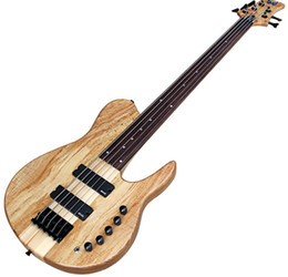 China Factory 5-string ASH Neck-Thru-Body Electric Bass Guitar with Maple No Frets,Black Hardwares,can be customized as to request supplier bass frets suppliers