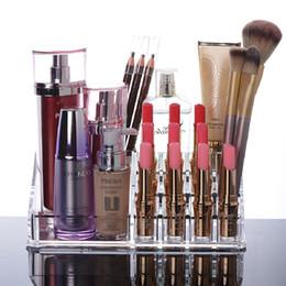 $enCountryForm.capitalKeyWord Canada - 16 Lattice Clear Acrylic Cosmetic Organizer Box Multifunction Makeup Storage Brush Lipstick Holder Desktop Storage Box Home Storage