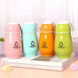 cartoon deck 2019 - Cartoon penguin stainless steel vacuum cup 300ml vacuum flasks double-deck insulated mugs water bottle party wedding gif