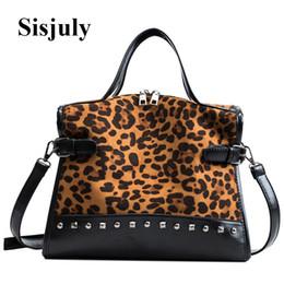 Discount leopard fashion designer lady handbag - Sisjuly Large Leopard Print Pillow Bags for Women Leather Shoulder Bags Handbags Women Crossbody Designer Lady Totes Sac