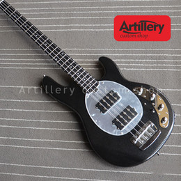ebony fingerboard Canada - Free shipping factory custom musicman bass guitar StingRay 4 string electric guitar with ebony fingerboard musical instrument