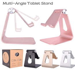 doca iphone ipad venda por atacado-Multi ângulo Tablet Stand para iPad mini desktop ajustável titular Dock para iPhone Phone Holder para Samsung com pacote de varejo