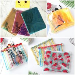 Fresh Fruits japan online shopping - Women Colorful Laser Makeup Bags PVC Waterproof Cosmetic Bag Cases Transparent Travel Storage Bag Wash Bags