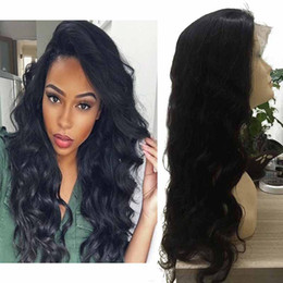 cheap lace front human hair wig 2019 - Pre Plucked Body Wave Lace Front Wigs For Women Cheap Brazilian Peruvian Malaysian Virgin Human Wavy Hair Lace Front Wig