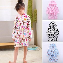 Pajamas Sleepwear Robes Kids Robes Flannel Nightgowns Lovely Animal Hooded  Bath Robes Long Sleeve Baby Boy Bathrobe Child Clothing d28cd5155
