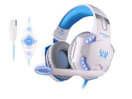 vibration gaming headsets 2018 - New EACH G2200 USB 7.1 Surround Sound Vibration Game Gaming Headphone Computer Headset Earphone Headband with Microphone