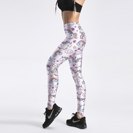 271974af3a Sexy lycra leggingS online shopping - New Sexy Girl Pencil Yoga Pants  Rainbow Unicorn Donut Pony