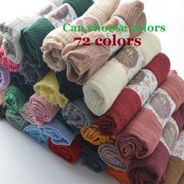 Cotton Viscose Scarves Australia - Crinkle Plain Wrinkle Wrap,bubble cotton muslim hijab,Soft Islam scarf,Viscose Maxi crinkle scarves,solid scarf,Head Hijab shawl Y18102010