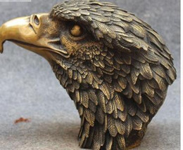 "$enCountryForm.capitalKeyWord Australia - 10"" Marked Chinese Folk Fengshui Pure Bronze Old Eagle Hawk Bird Head Statue"