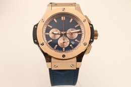 Big Bang Watch Sapphire Australia - Classic top quality Big men Bang watch for imported quartz movement 42MM sapphire dial full function timing gold case leisure men Cool table
