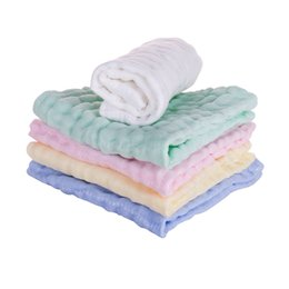 Wholesale COTTON BABY WASHCLOTH NATURAL MUSLIN COTTON BABY WIPES SOFT NEWBORN BABY FACE TOWEL FOR SENSITIVE SKIN BATH TOWEL COLOR X30CM