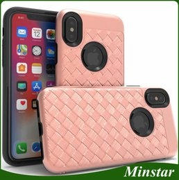 Cheap Iphone Cases Wholesale NZ - Popular Fashionable Hybrid Weave Streak Phone Case For iPhone X Xs 5.8inch Xs Max 6.5 XR 6.1 8 Plus 7 6S Cheap Braid Striae Knit Cover Cases