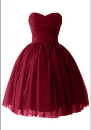 $enCountryForm.capitalKeyWord UK - Short Puffy Homecoming Prom Dresses Sexy Victoria Burgundy Tulle Ball Gown Sweetheart Corset Cocktail Party Gowns