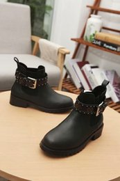 Women Genuine Leather Motorcycle Boots NZ - Fashion High Quality Girls Ankle Boots Designer Autumn And Winter Genuine Leather Women Boots With Buckle Motorcycle Keep Warm Winter Boots