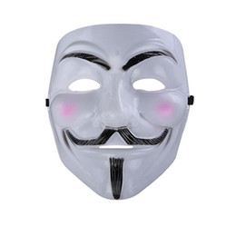 Chinese  V for Vendetta Mask Anonymous Guy Fawkes Fancy Cool Costume Cosplay Mask for Parties, Carnivals One size fits most teens to adults manufacturers