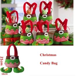 $enCountryForm.capitalKeyWord NZ - 3Pcs Christmas Candy Bags Elf Gift Bags Family Hotel Mall Holiday Christmas Decorations Party Supplies Lovely Gifts For Children
