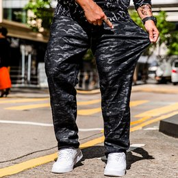 $enCountryForm.capitalKeyWord NZ - Men Business Jeans Classic Male Camouflage Full Length Jeans Plus Size 30-40 42 44 46 Punk Style Long Straight Men Denim Pants