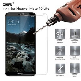 $enCountryForm.capitalKeyWord Canada - 2.5D 0.26mm 9H  Tempered Glass For Huawei Mate 10 Lite Screen Protector Toughened protective film For Huawei Mate 10 Lite