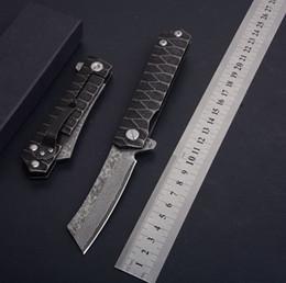 $enCountryForm.capitalKeyWord UK - Drop Shipping Ball Bearing Fast Open Flipper Knife Damascus Steel Blade Stone Wash Steel Handle Frame Lock EDC Pocket Knives