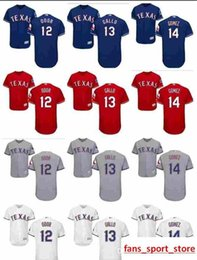 36d51611c 2019 custom Men s Women Youth Majestic Rangers Jersey 12 Rougned Odor 13  Joey Gallo 14 Carlos Gomez Home Blue Red white Kids Baseball J