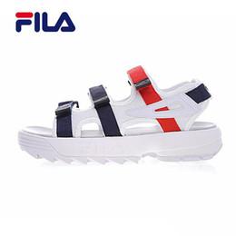 39d63f2ab Water shoes sandals online shopping - Hot Original Fila II men women Summer  Sandals black white