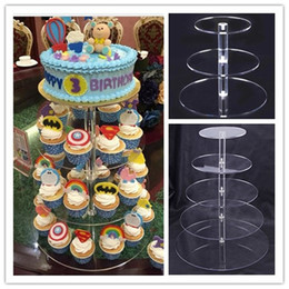 Cupcake Birthday Party Decorations Australia - Acrylic Cake Stand Round Cup Cupcake Holder Wedding Birthday Party Decorations Events Dessert Sugarcrafts Display Stands