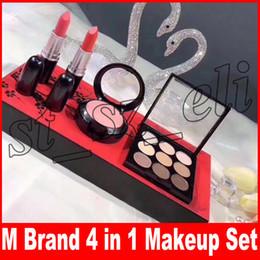 Blush lipstick palettes online shopping - New Brand Plum Blossom Makeup Set colors eyeshadow palette blush matte lipstick in make up cosmetic set