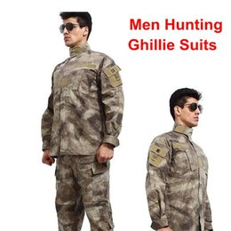 Discount camouflage combat suit - Tactical Camo Pants+Shirt Camouflage Clothes Hunting Army Sniper Uniform Sniper USMC Suit Combat Uniform