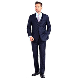 China Classic Men Suit For Beach Wedding Party Elegant Tuxedos 2 Button 3 Piece Slim Fit Terno Masculino mens suits(Jacket+Pants+Vest) cheap single button gray tuxedo suppliers