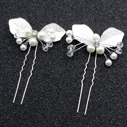 Wholesale Baroque style exqusite hair accessories U shape leaf hairclip hairpin new bride headband hair sticks artifical jewelry freeshipping