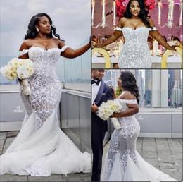 $enCountryForm.capitalKeyWord NZ - Plus Size Wedding Dresses Off-Shoulder Mermaid Dress Appliqued Lace Wedding Dress Lace Ball Gown Wedding Dress vestido de novia