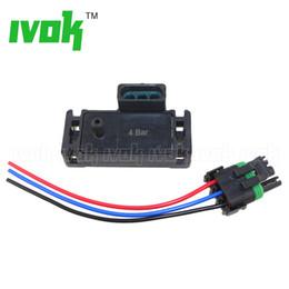 Bar Map Sensor Australia - 100% Test 4Bar 4 Bar 58 Psi 58psi Turbo Boost Pressure MAP Sensor For GM Electromotive Motec With Plug Wire Pigtail
