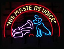 "$enCountryForm.capitalKeyWord NZ - His Masters Voice Dog Speaker Neon Sign Handmade Custom Real Glass Tube Pet Store Shop Advertisement Display Neon Signs 19""X15"""