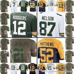 41f5cfab1 Green Bays Men Jersey Packer 7 Brett Hundley 12 Aaron Rodgers 18 Randall  Cobb Jersey 52 Clay Matthews Jordy Nelson Ha Ha Clinton-Dix Jerseys