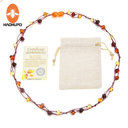 $enCountryForm.capitalKeyWord Canada - HAOHUPO New Natural Amber Jewelry Flower Multicolor Baltic Amber Bead Necklace for Women Necklace Unique Valentine's Day Gift