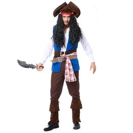 sexy woman pirate costume UK - Women men Pirate Costumes Fancy Carnival Performance Sexy Adult Halloween Costume Dress High Quality Captain Party Cosplay set
