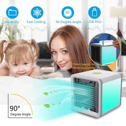 Personal mini cooler online shopping - Air Cooler Fan Air Personal Space Cooler Portable Mini Air Conditioner Device cool soothing wind for Home room Office Desk Novelty Items