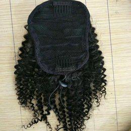 Sheds Prices NZ - Factory price sell 100% virgin human hair drawstring ponytail no shed no tangle human afro kinky hair ponytail