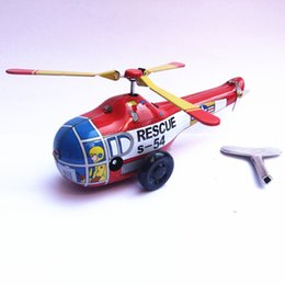 Toy Propellers Australia - Adult Collection Retro Wind up toy Metal Tin The propeller aircraft Mechanical toy Clockwork toy figures model christmas gift