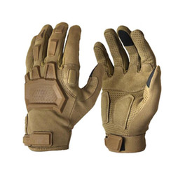 China Tactical Gloves Men Outdoor Sports Military Special Forces Full Finger Gloves Antiskid Bicycle Gloves Wearable Gym Accessories cheap army tactical gloves suppliers
