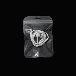 Cosmetic Bags Locks Australia - 10.5*15cm Self Seal Zip Lock Clear Plastic Packaging Pouch Bag Retail 200pcs lot Reclosable Transparent Grocery Cosmetic Storage Zipper Bag