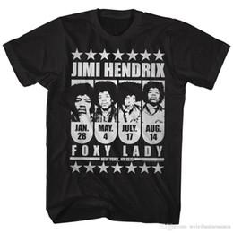 $enCountryForm.capitalKeyWord NZ - New Spring Summer Dress CasualJimi Hendrix Mens New T-Shirt JIMI FOXY LADY 100% Black Cotton in Sizes S-3XL O-Neck Men Short Fun