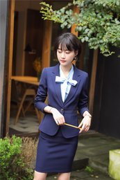 $enCountryForm.capitalKeyWord Canada - Formal Uniform Designs Skirt Suits Business Women Work Wear Jackets And Skirt For Ladies Business Suits Blazers Sets OL Styles