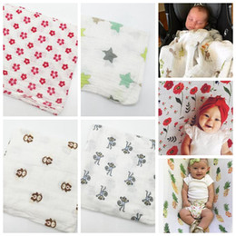 Wholesale 120 cm Muslin Baby Swaddle Blanket ins Girls Boys Stroller Cover Swaddle Blankets Nursing Cover design KKA5695