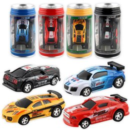 Wholesale Micro Brush Australia - Racer Remote Control Car Coke Can RC Radio Car Remote Control Micro Racing LED Light Toys